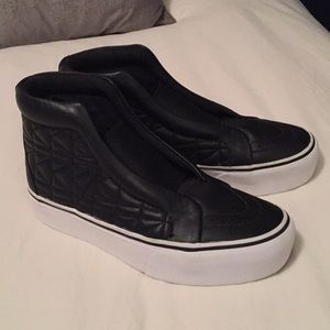 VANS X KARL LAGERFELD Leather high tops
